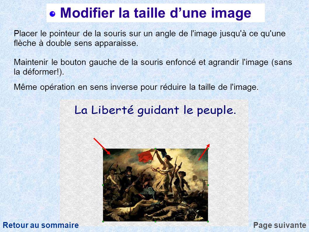 Modifier la taille d'une image