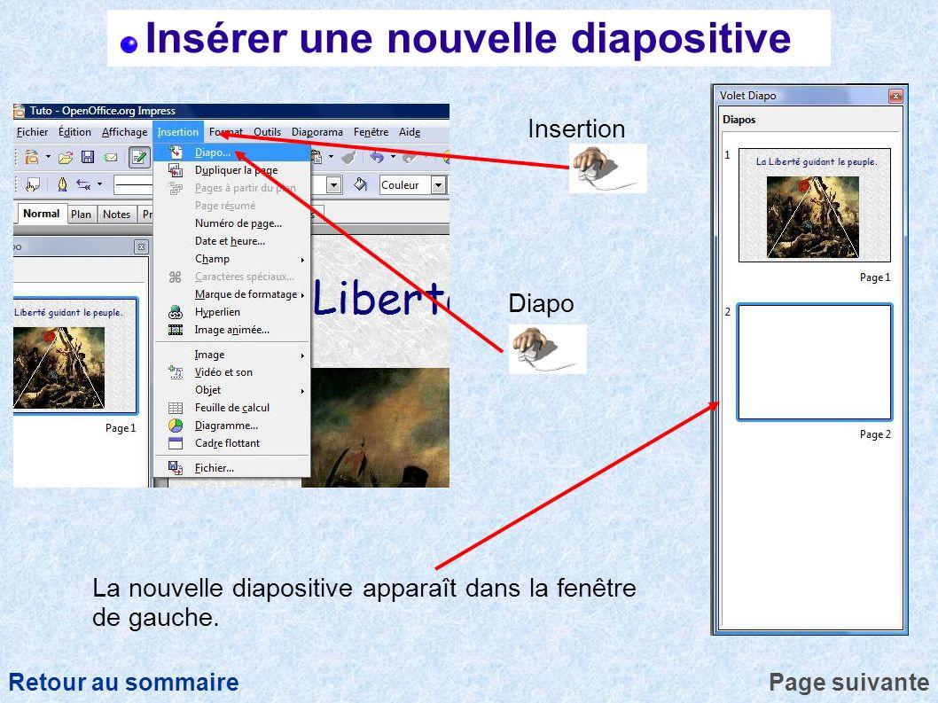 Insérer une nouvelle diapositive