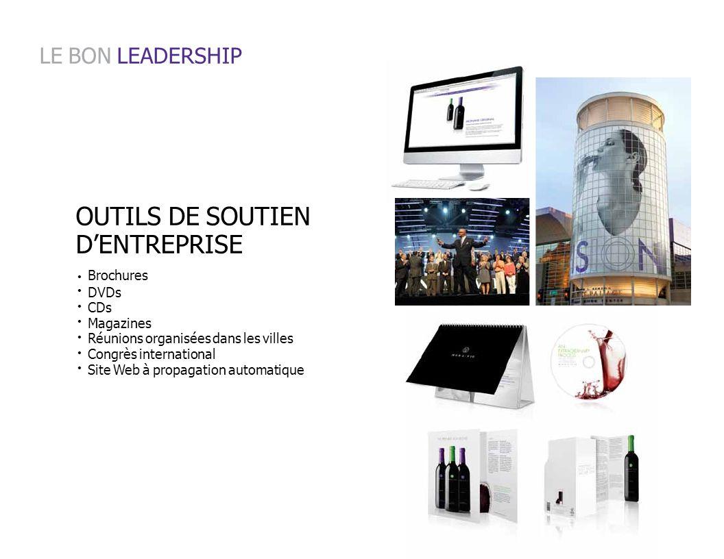 LE BON LEADERSHIP OUTILS DE SOUTIEN D'ENTREPRISE Brochures DVDs CDs