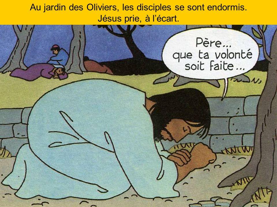 Au jardin des Oliviers, les disciples se sont endormis.