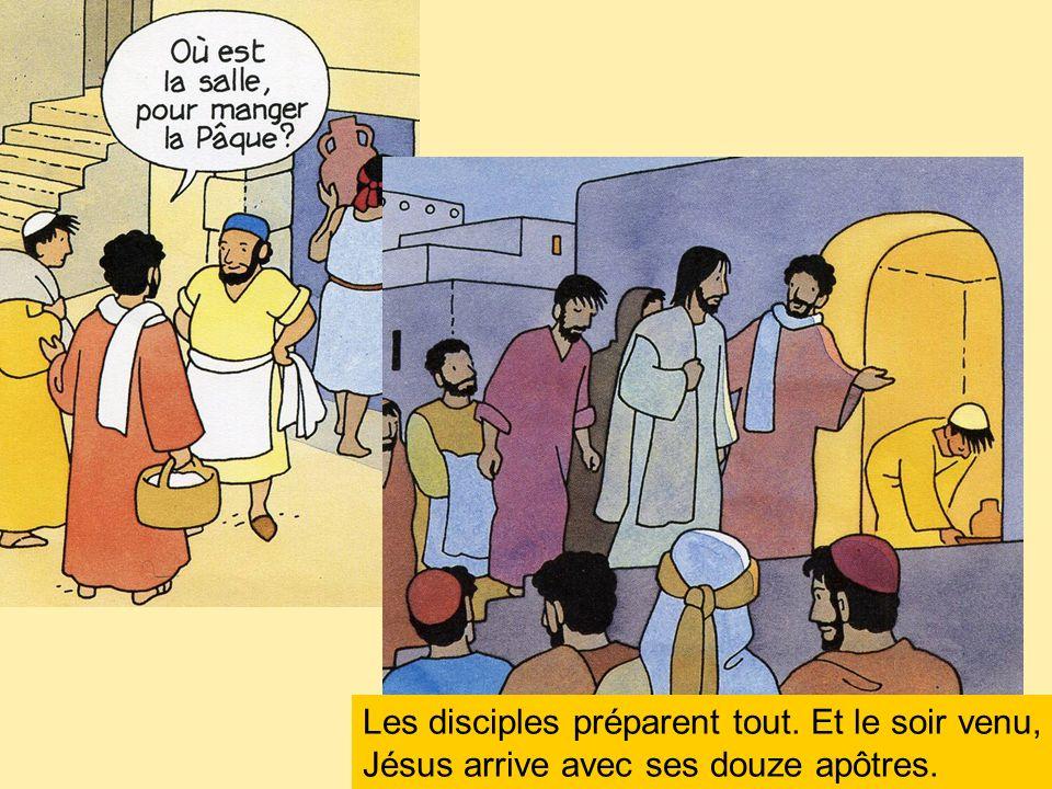 Les disciples préparent tout
