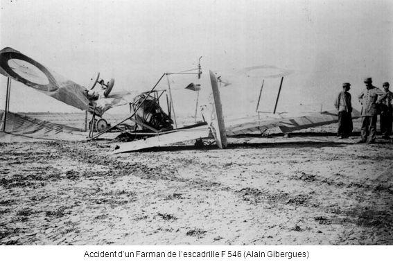 Accident d'un Farman de l'escadrille F 546 (Alain Gibergues)