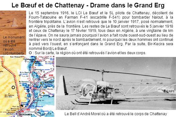 Le Bœuf et de Chattenay - Drame dans le Grand Erg