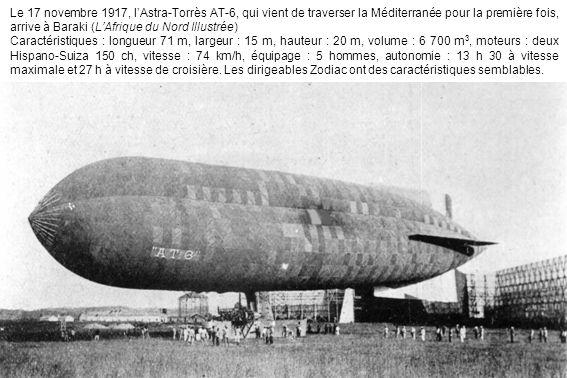 Le 17 novembre 1917, l'Astra-Torrès AT-6, qui vient de traverser la Méditerranée pour la première fois, arrive à Baraki (L'Afrique du Nord Illustrée)