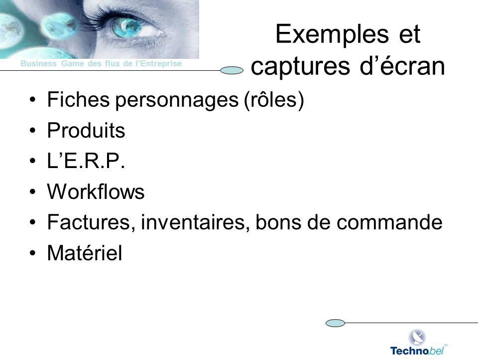 Exemples et captures d'écran