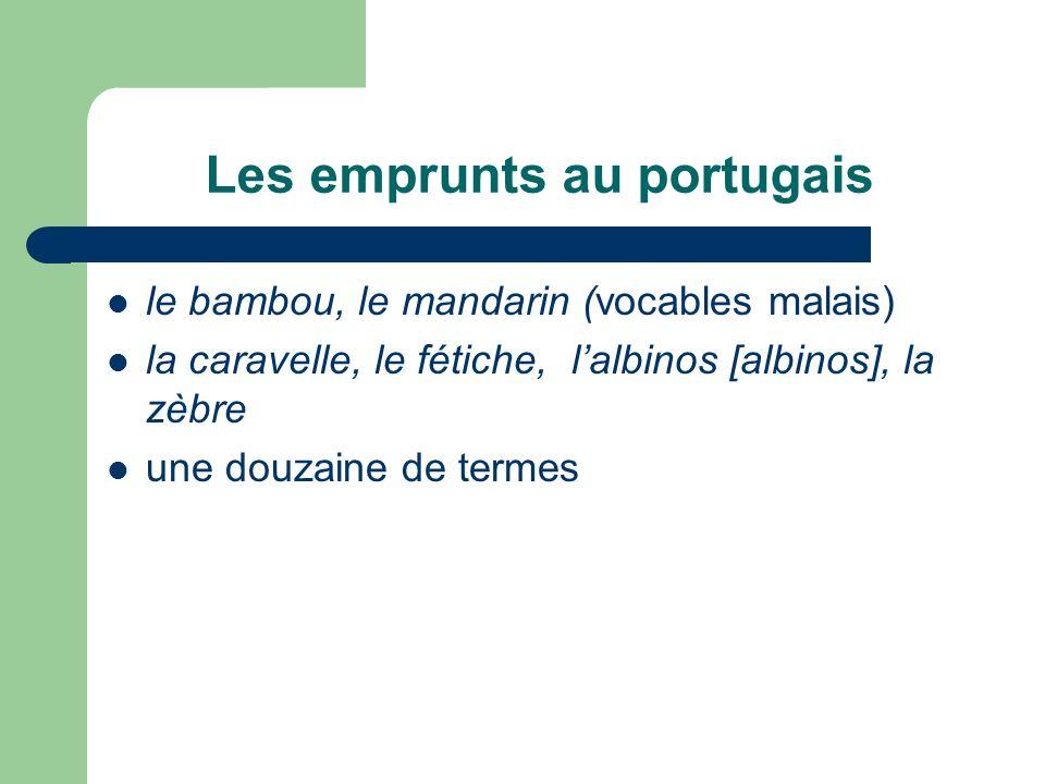 Les emprunts au portugais
