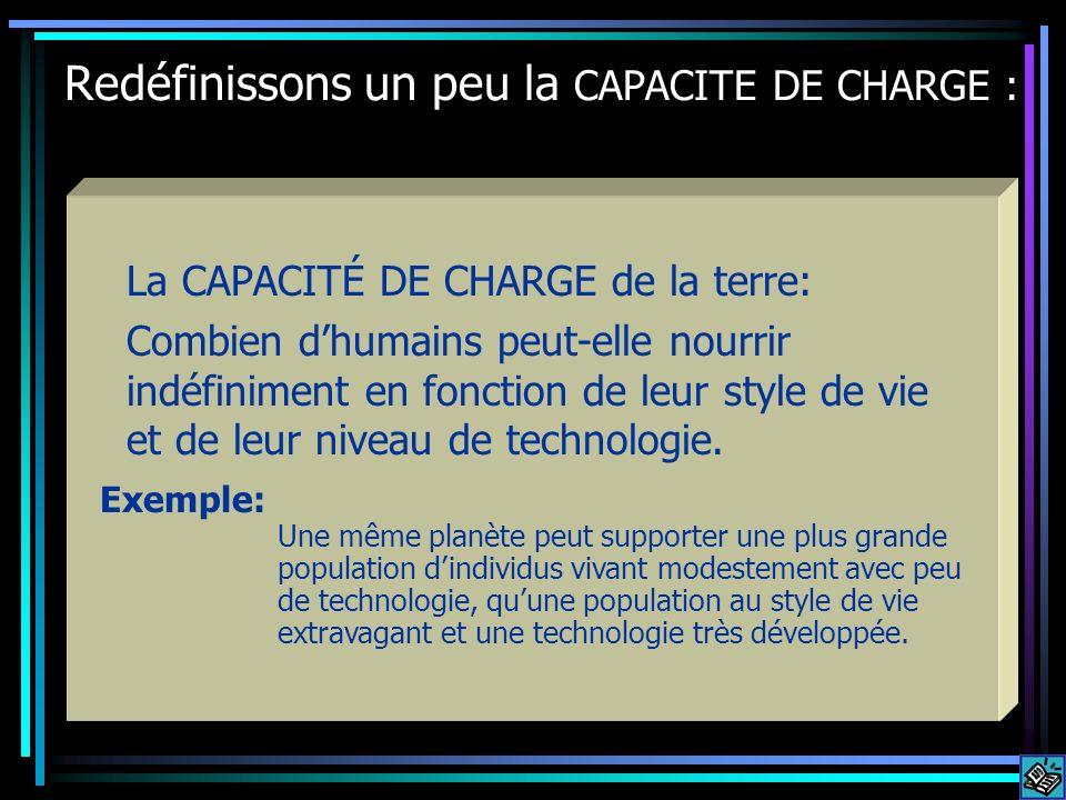 Redéfinissons un peu la CAPACITE DE CHARGE :
