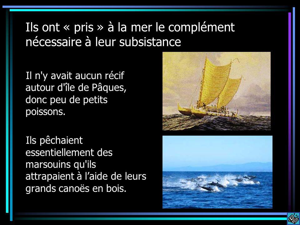 Ils ont « pris » à la mer le complément nécessaire à leur subsistance