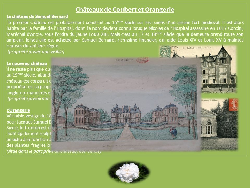 Châteaux de Coubert et Orangerie