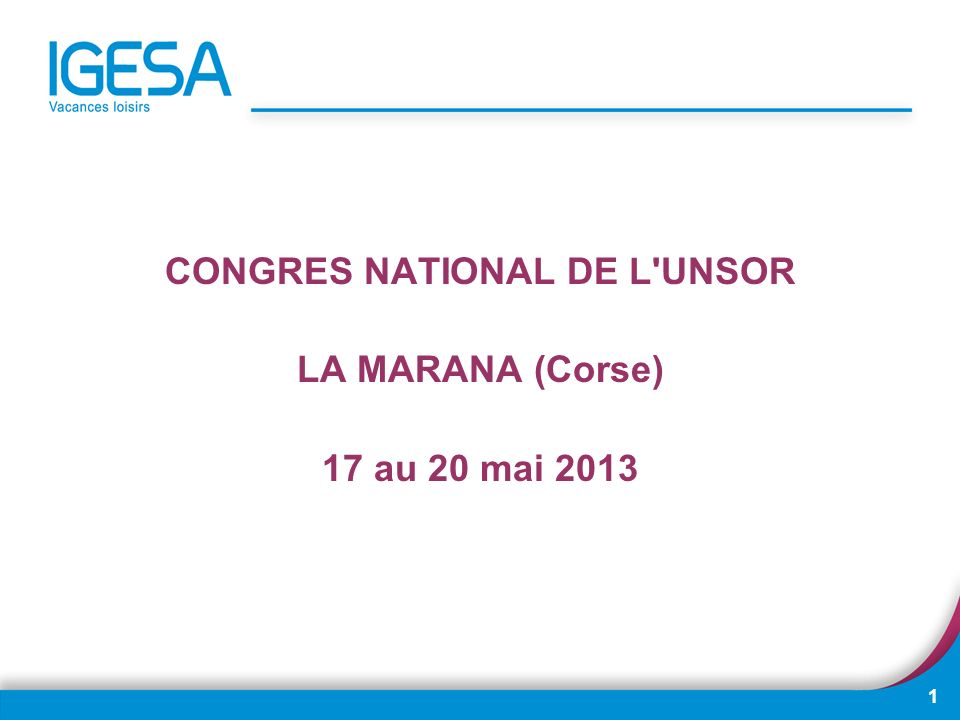 CONGRES NATIONAL DE L UNSOR