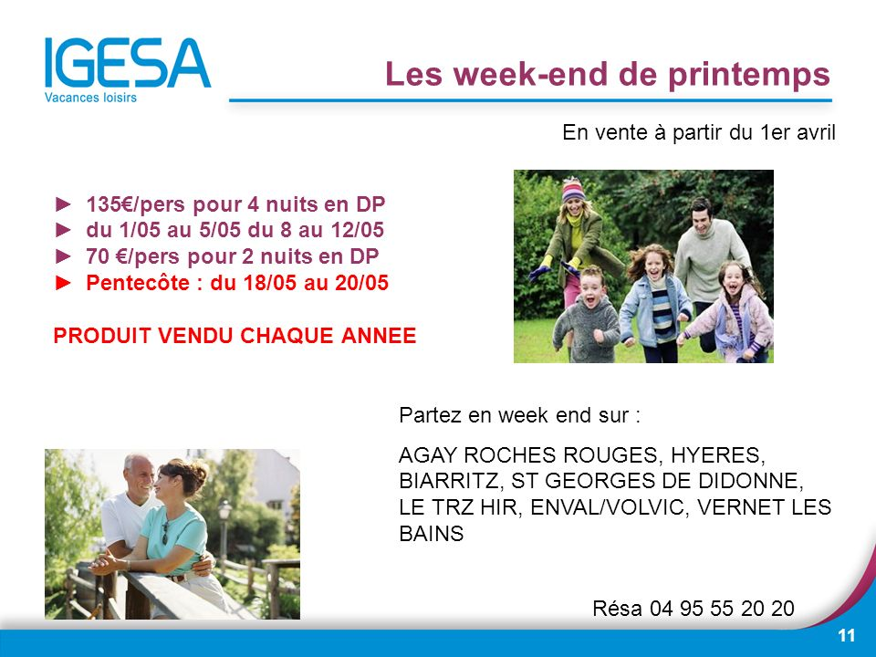 Les week-end de printemps