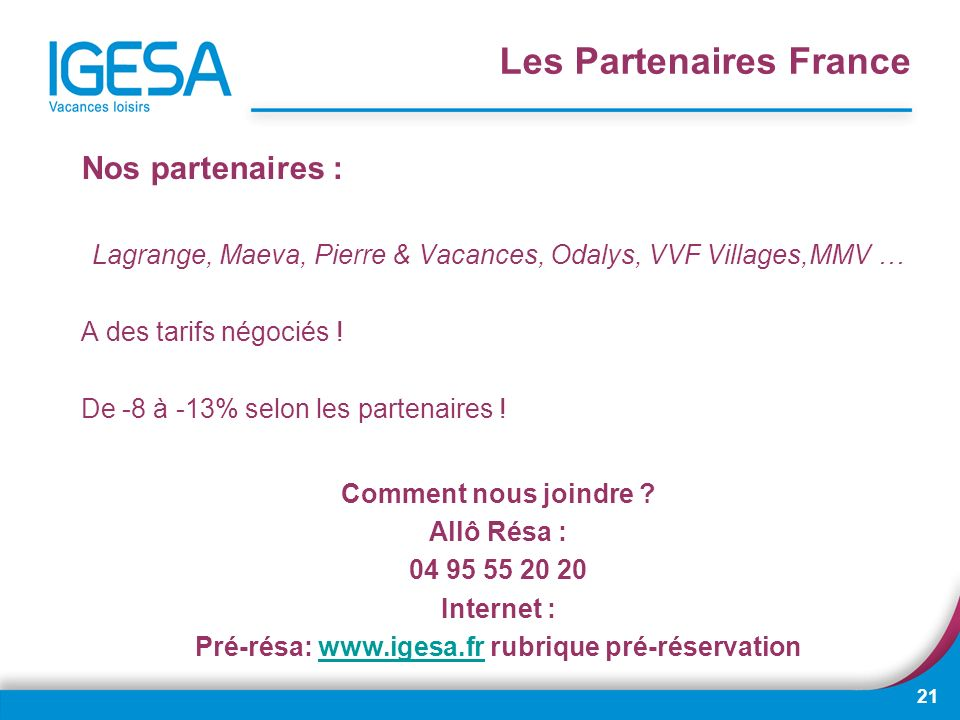Les Partenaires France