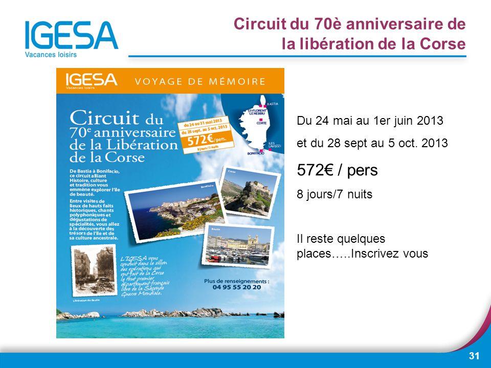 Circuit du 70è anniversaire de la libération de la Corse