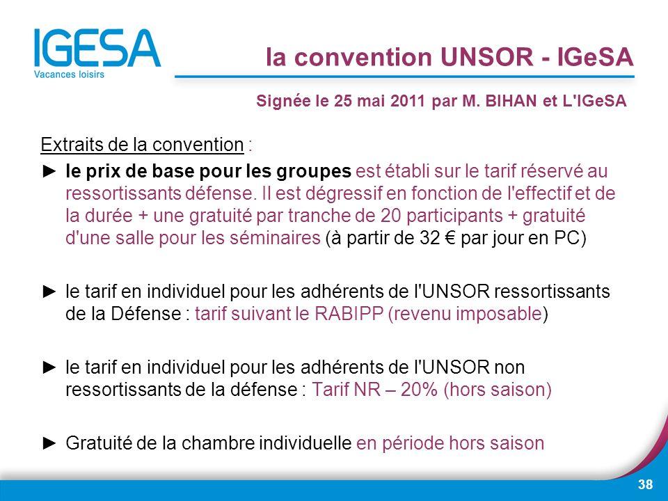 la convention UNSOR - IGeSA