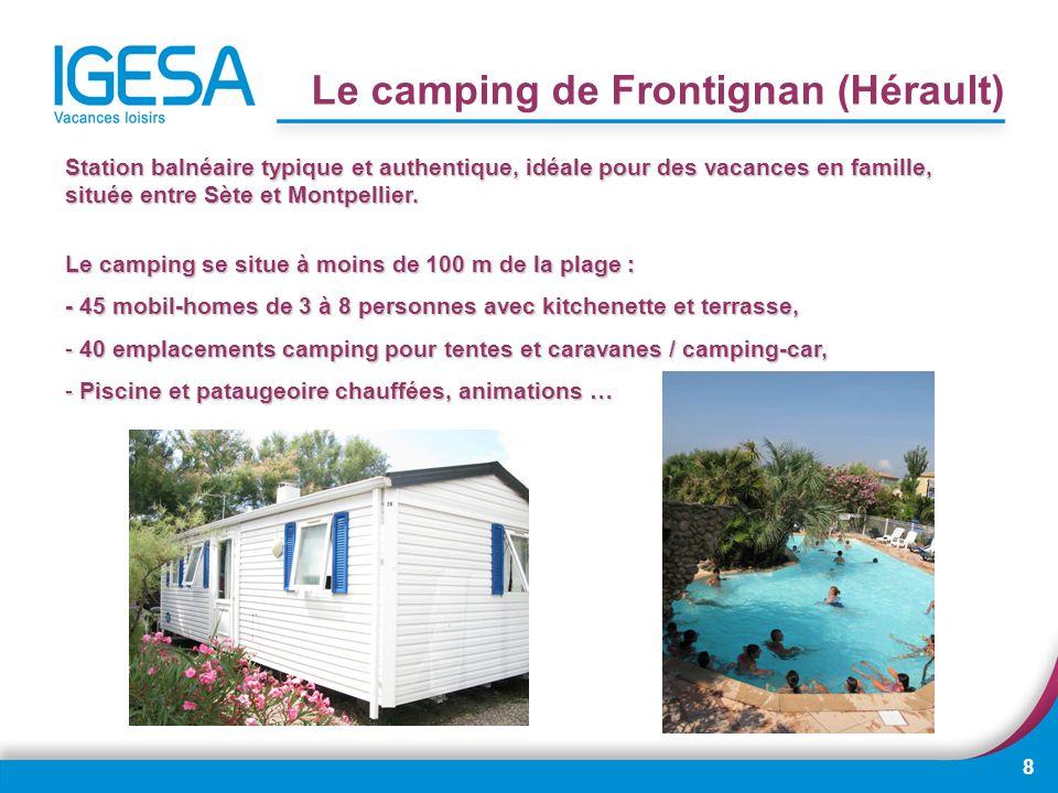 Le camping de Frontignan (Hérault)