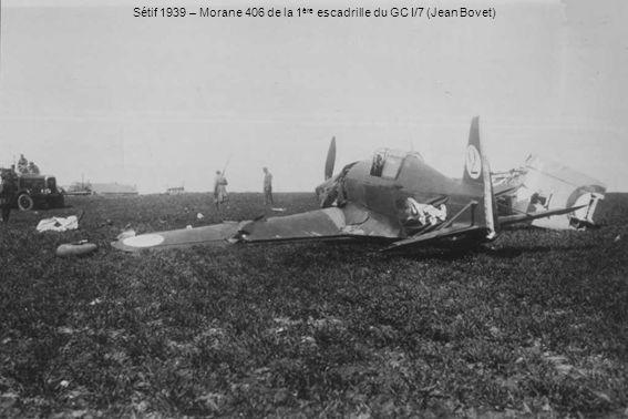 Sétif 1939 – Morane 406 de la 1ère escadrille du GC I/7 (Jean Bovet)