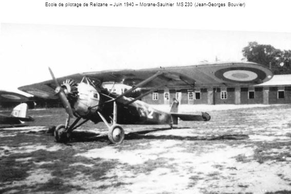 Ecole de pilotage de Relizane – Juin 1940 – Morane-Saulnier MS 230 (Jean-Georges Bouvier)