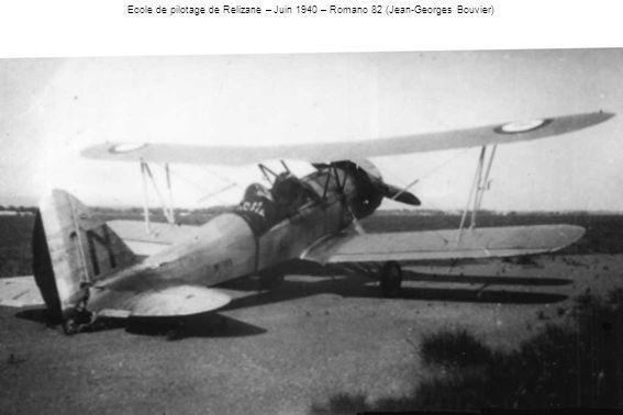 Ecole de pilotage de Relizane – Juin 1940 – Romano 82 (Jean-Georges Bouvier)
