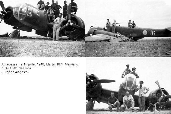 A Tébessa, le 1er juillet 1940, Martin 167F Maryland du GB II/61 de Blida