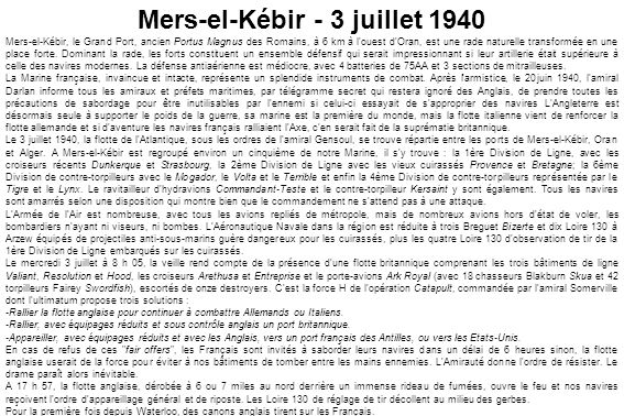 Mers-el-Kébir - 3 juillet 1940