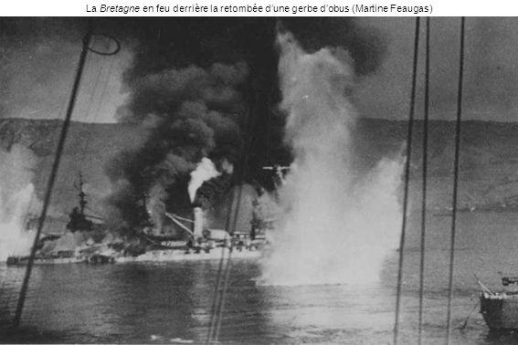La Bretagne en feu derrière la retombée d'une gerbe d'obus (Martine Feaugas)