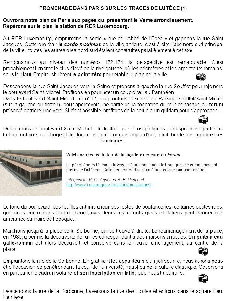 PROMENADE DANS PARIS SUR LES TRACES DE LUTÈCE (1)