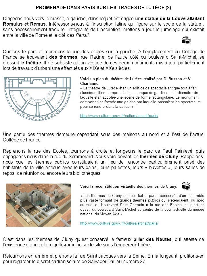 PROMENADE DANS PARIS SUR LES TRACES DE LUTÈCE (2)