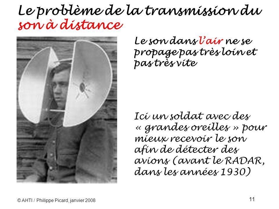 Le problème de la transmission du son à distance