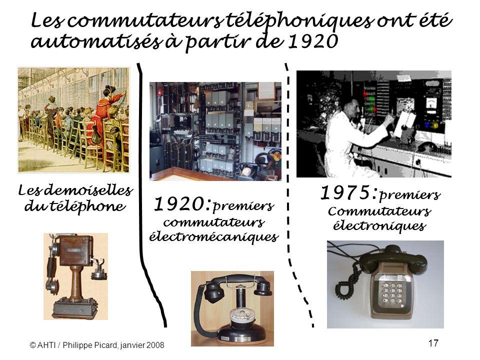 Les commutateurs téléphoniques ont été automatisés à partir de 1920