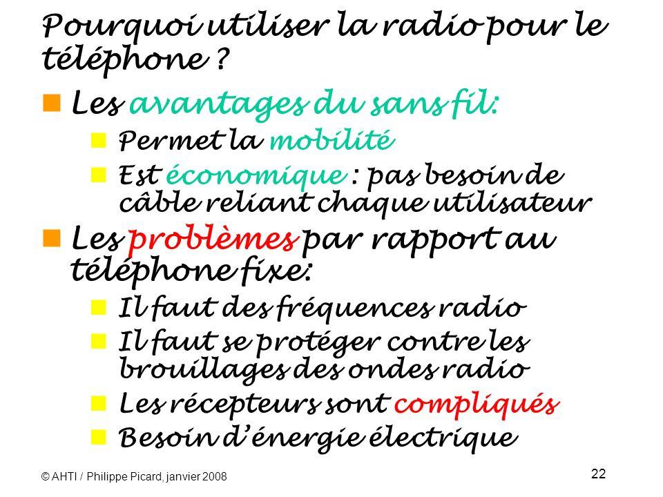 Pourquoi utiliser la radio pour le téléphone