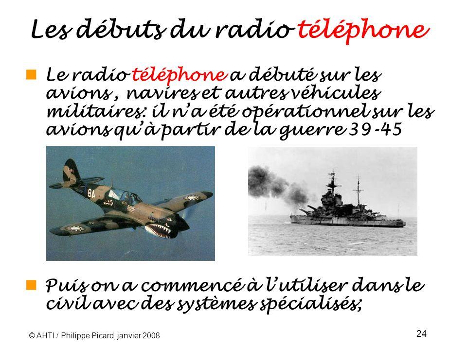Les débuts du radio téléphone