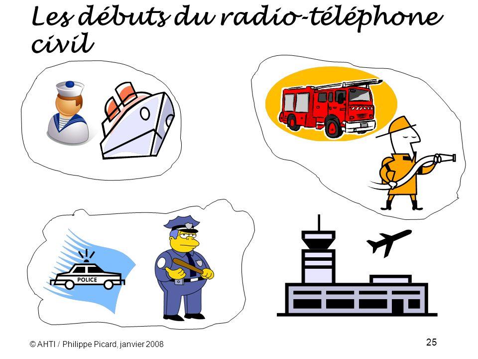 Les débuts du radio-téléphone civil