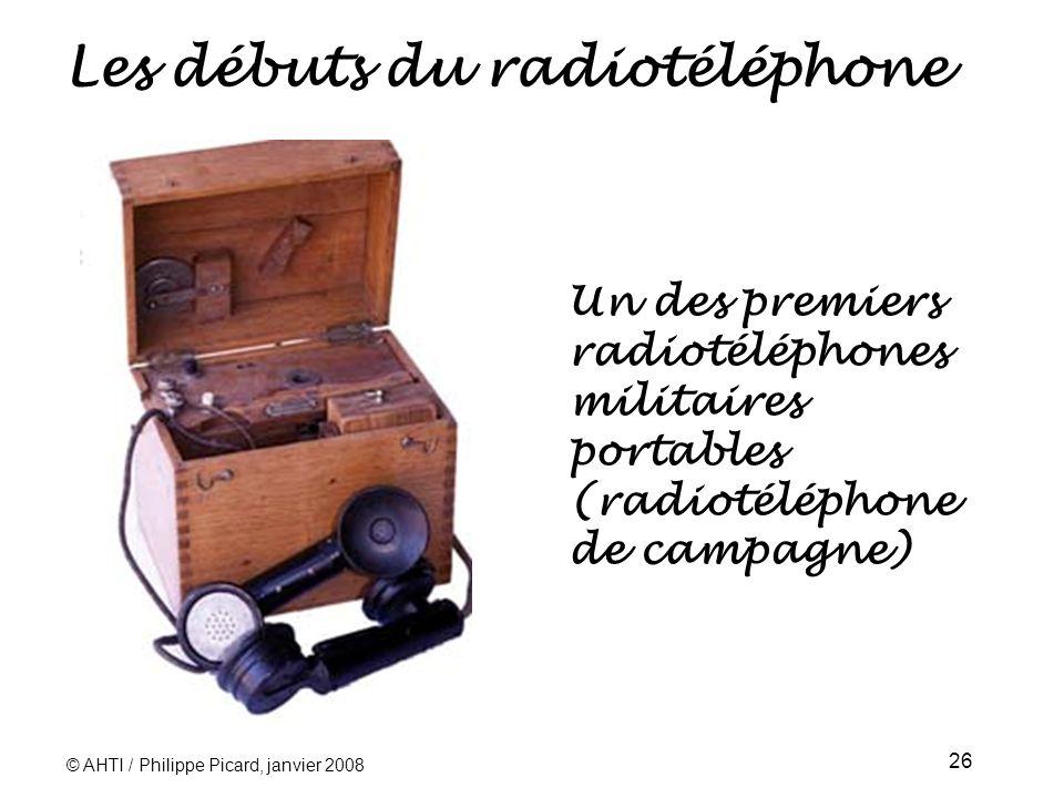Les débuts du radiotéléphone