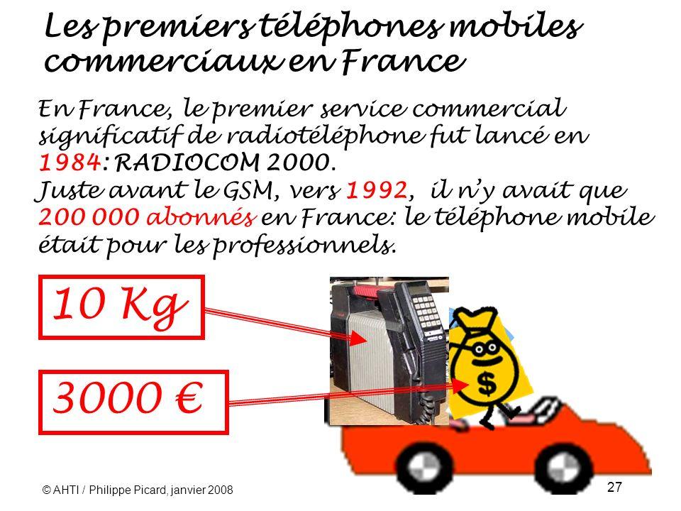 Les premiers téléphones mobiles commerciaux en France