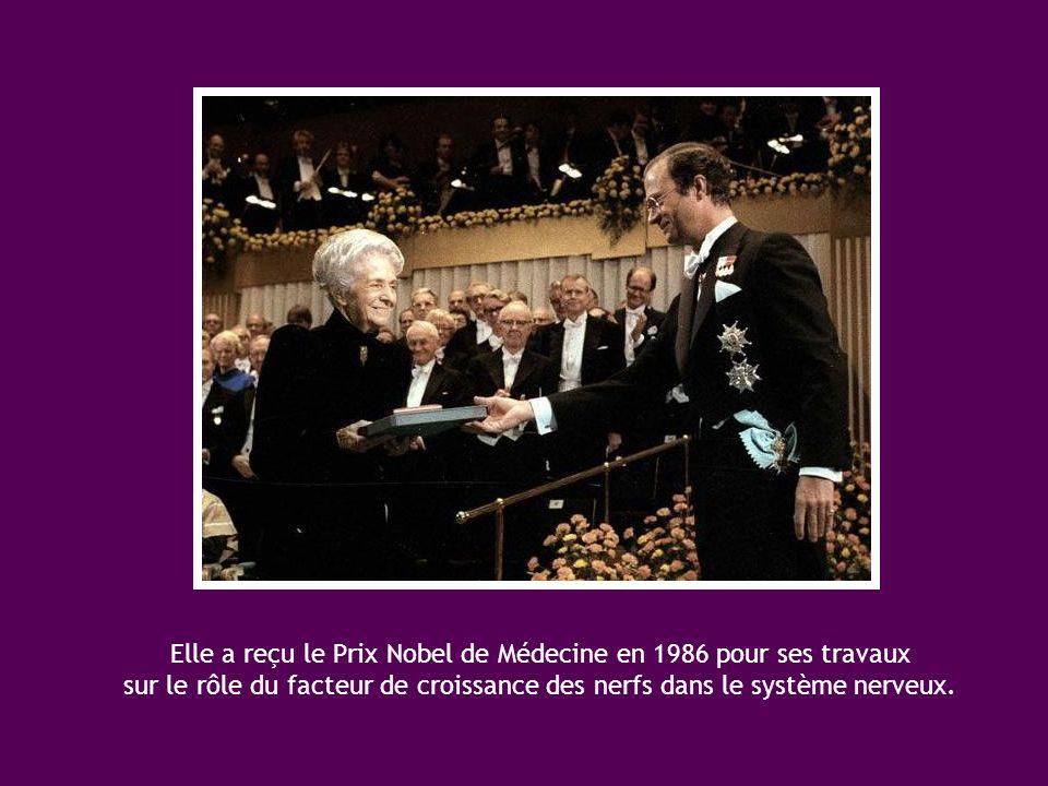 Elle a reçu le Prix Nobel de Médecine en 1986 pour ses travaux sur le rôle du facteur de croissance des nerfs dans le système nerveux.