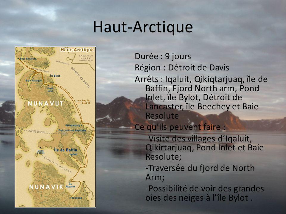 Haut-Arctique Durée : 9 jours Région : Détroit de Davis