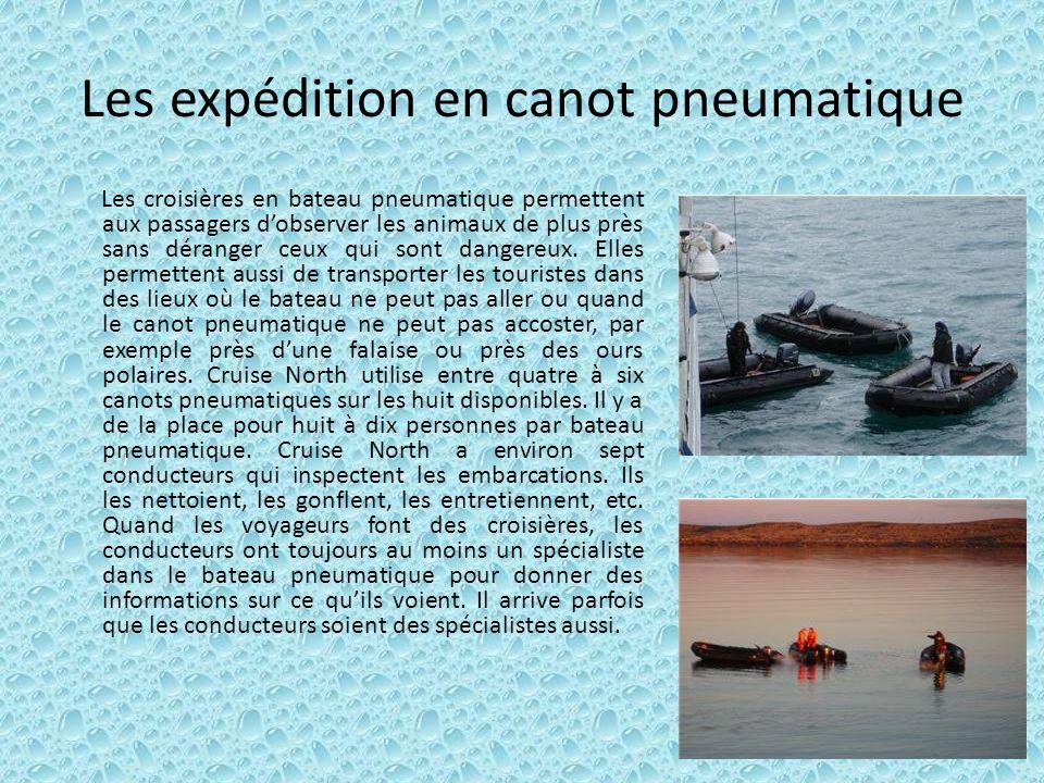 Les expédition en canot pneumatique