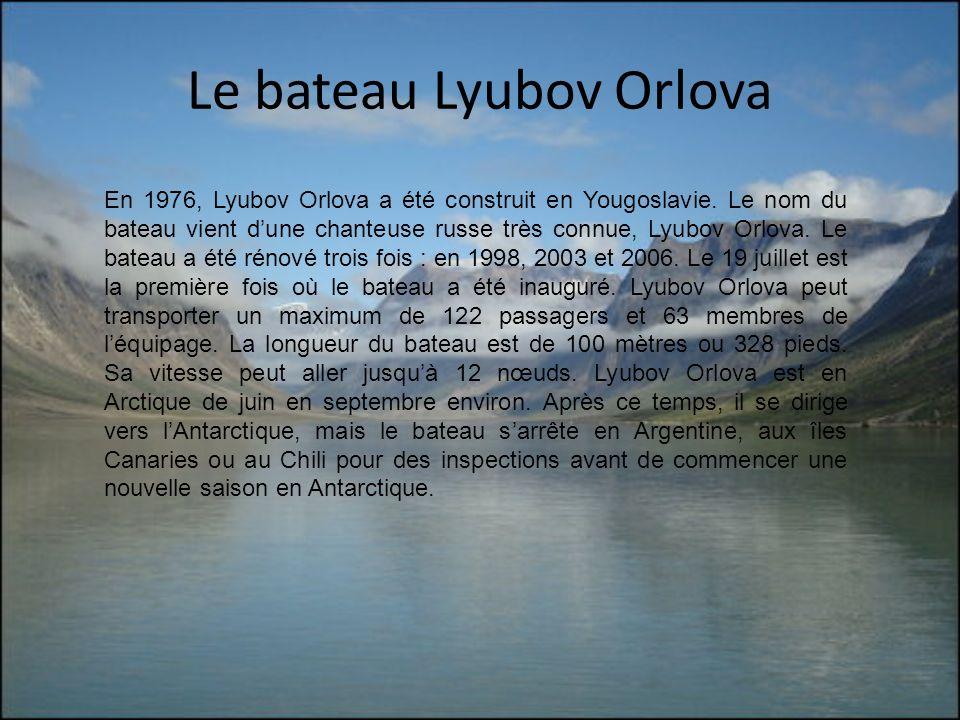 Le bateau Lyubov Orlova