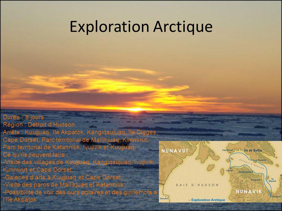 Exploration Arctique Durée : 8 jours Région : Détroit d'Hudson