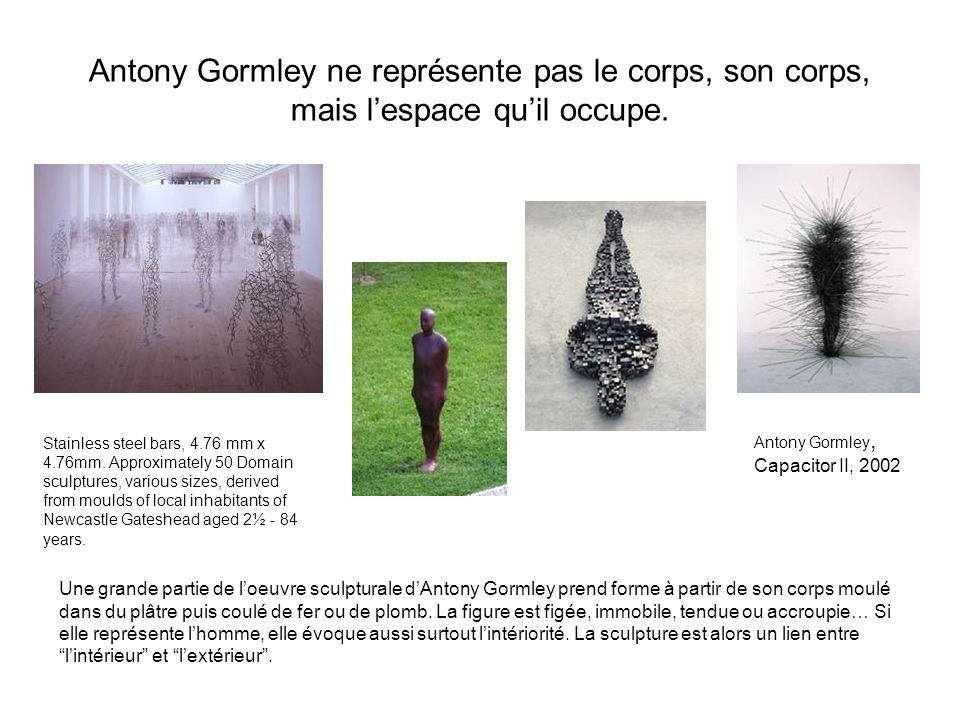 Antony Gormley ne représente pas le corps, son corps, mais l'espace qu'il occupe.