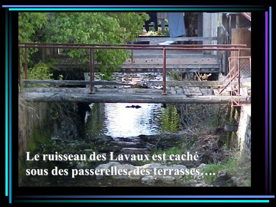 Le ruisseau des Lavaux est caché sous des passerelles, des terrasses….