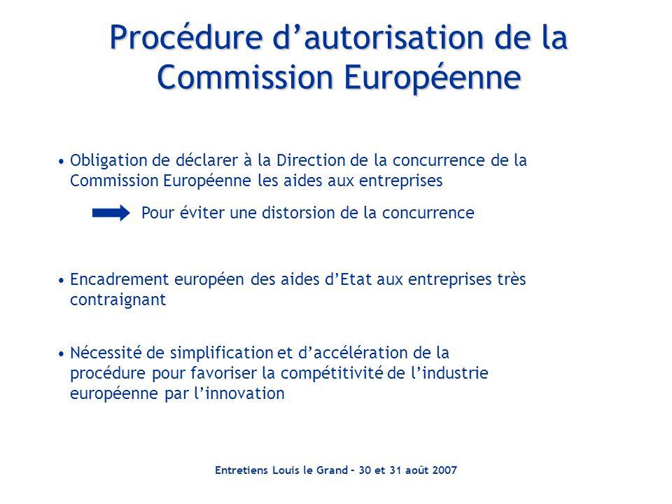Procédure d'autorisation de la Commission Européenne