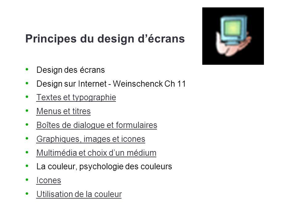 Principes du design d'écrans