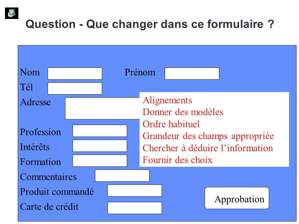 Question - Que changer dans ce formulaire