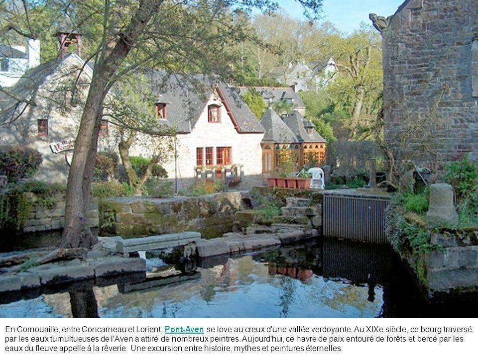 En Cornouaille, entre Concarneau et Lorient, Pont-Aven se love au creux d une vallée verdoyante.