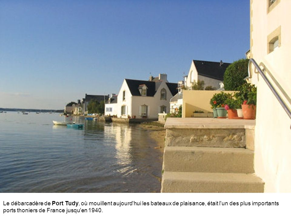Le débarcadère de Port Tudy, où mouillent aujourd hui les bateaux de plaisance, était l un des plus importants ports thoniers de France jusqu en 1940.