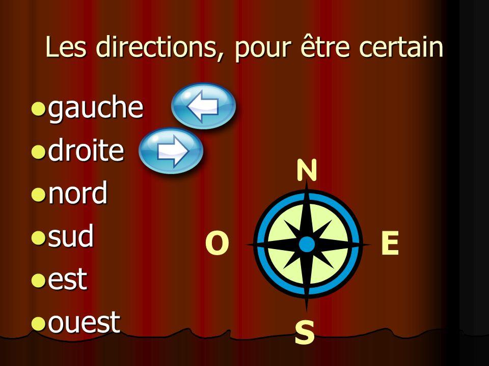 Les directions, pour être certain