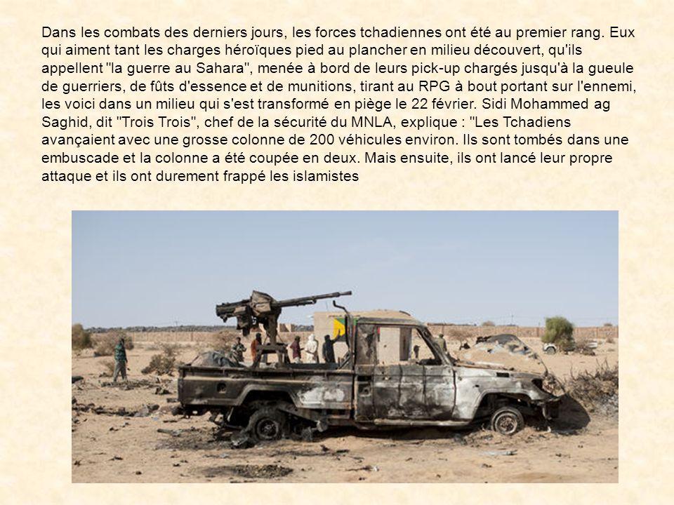 Dans les combats des derniers jours, les forces tchadiennes ont été au premier rang.