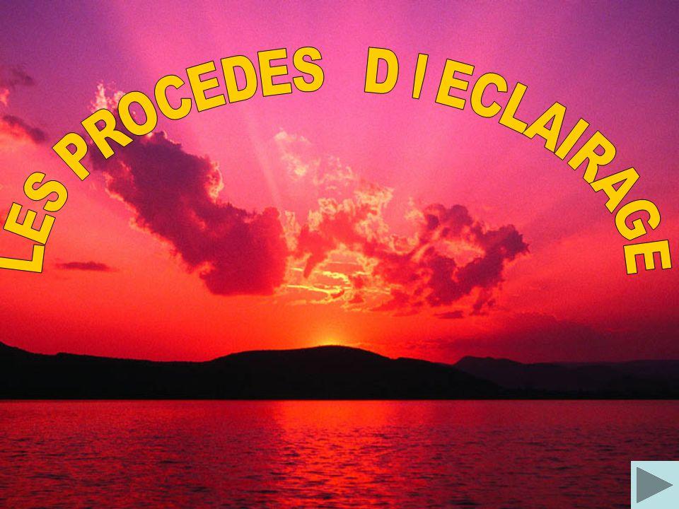 LES PROCEDES D ECLAIRAGE