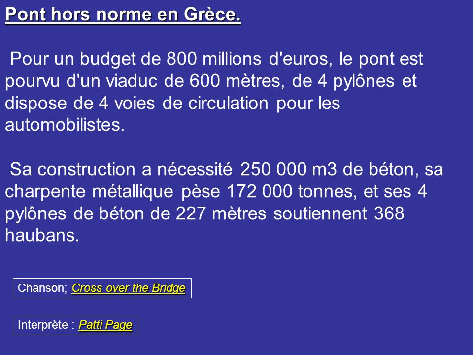 Pont hors norme en Grèce.
